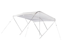Ocean Aluminum White Bimini Top 225 cm 110 High