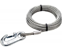 Wire rope of traction with hooks, 7.5 m Seachoice