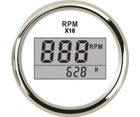 Tachometer with Digital Hour Counter 52mm