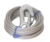 Lalizas Wire rope of traction with hooks, 6 m
