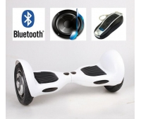 Patin electrico - Scooter Electrico 10 pul Blanco. Led-Bolsa-Bluetooth-Mando