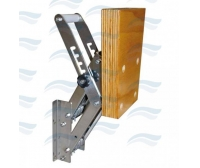 Imnasa Inox Outboard Bracket For Engine 40 Kg Wood-5 Adjustment