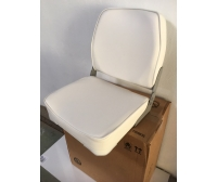 Seat 42x39x48 cm White Semi-Leather