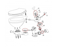 Kit A, Major Service Kit Manual Toilet Nuova Rade LT-0 & LT-1