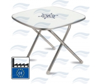 Square Folding Table 610x610 mm Forma Marine