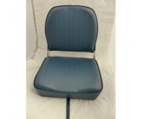 Seat 400x510x380mm Simil Blue Leather