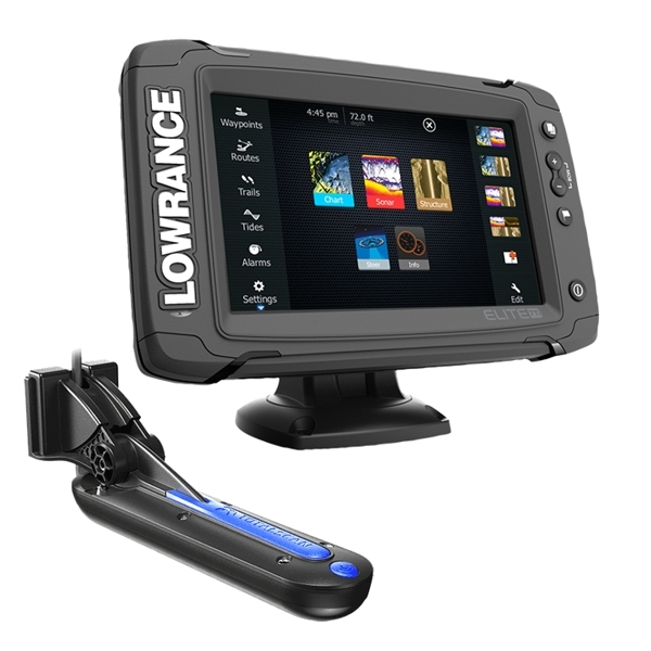 Lowrance Elite 7 TI TotalScan Fishfinder-Plotter with Transducer
